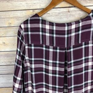 0 + 0 Tops - Stitch Fix | 0 + 0 Plaid High Low Tunic Top Size M